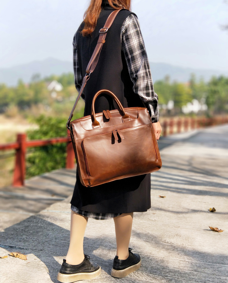 Retro bolsas femininas de negócios feminino 14