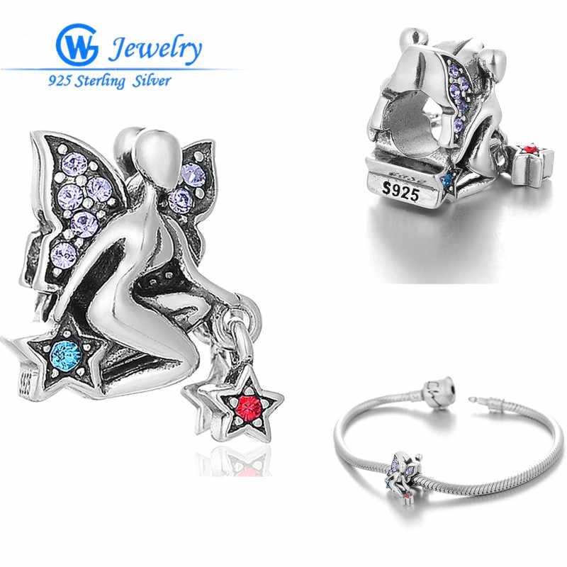 Модные подвески в виде Ангела из стерлингового серебра для браслета европейского бренда Gw, модные ювелирные изделия X396H10