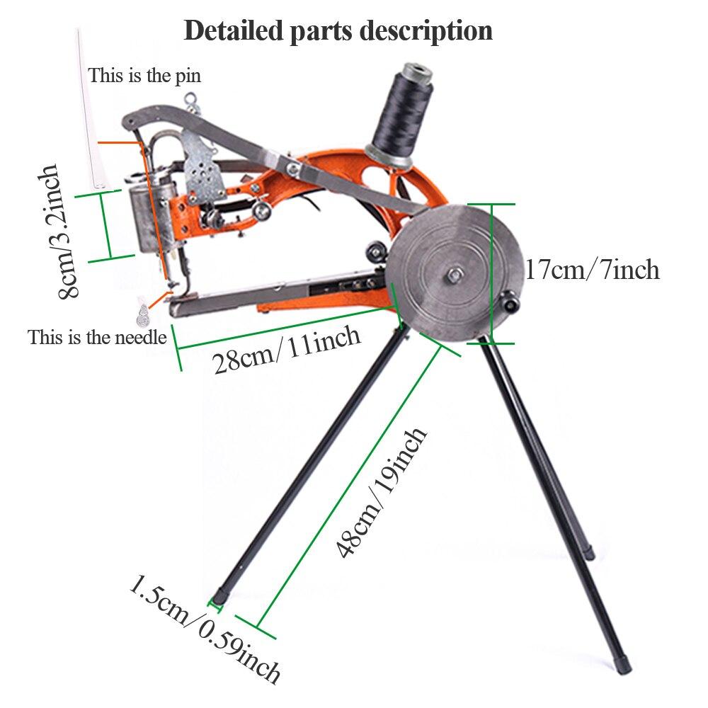 YUEWO DIY Shoe Repair Machine Manual Shoe Mending Sewing Machine ...