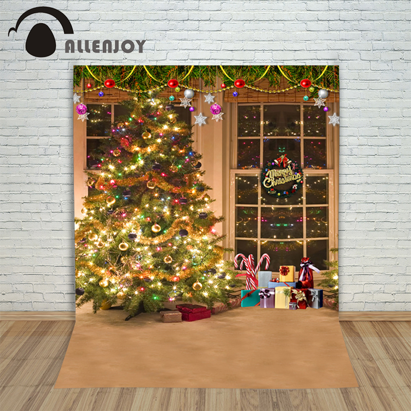 Christmas background pictures vinyl Tree blinds gift window child photocall Fairy tale wonderland camera photo studio backdrop