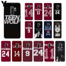 Yinuoda Teen Wolf Stilinski 24 Dunbar 9 TPU Transparent Phone Case Cover Shell for samsung galaxy S9 plus S7 edge S6