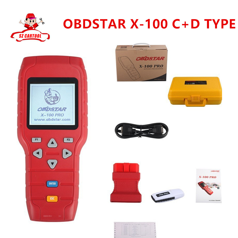 Original OBDSTAR X-100 PRO Auto Key Programmer (C+D) Type for IMMO+Odometer+OBD Software Support EEPROM Function