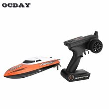 RC Racing Boat 20km/h 2.4G Brushed High Speed Speedboat Ship with Water Cooling System Self-righting Remote Control RC Speedboat(China)