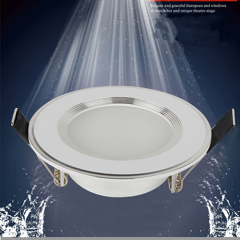 1pcs Dimmable Waterproof LED Downlight  220V 7W/9W/12W/15W/18W LED Bulb Light Recessed LED Spot Light For Bathroom