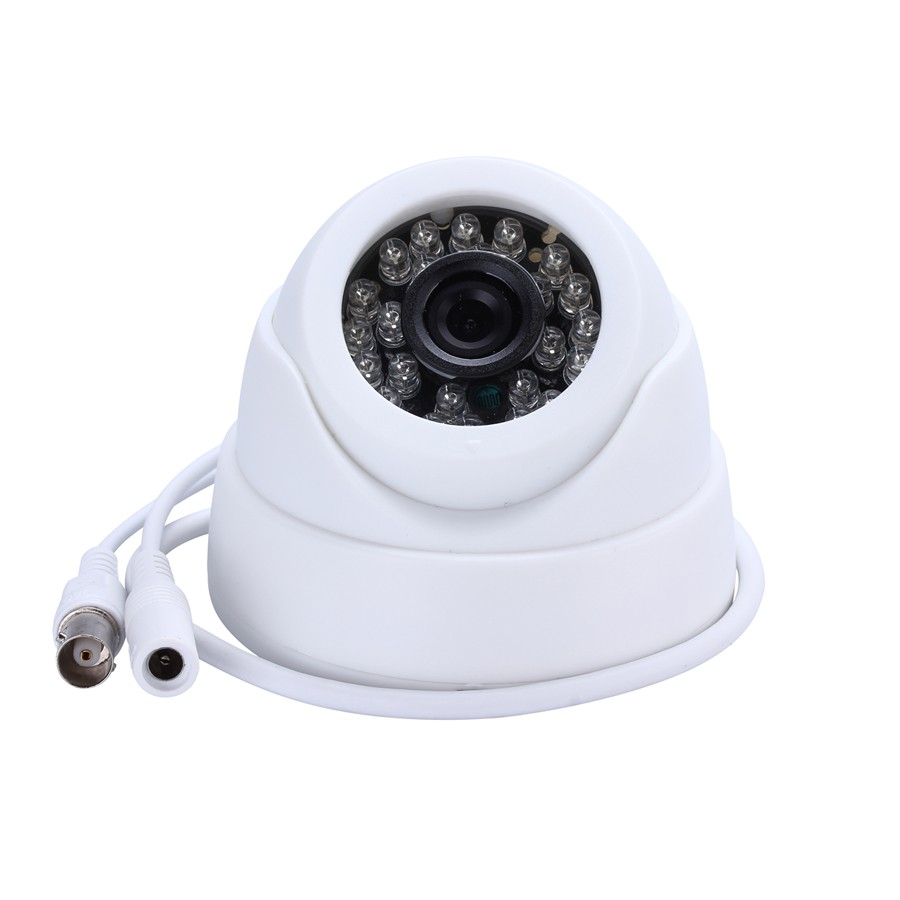 HWP CCTV Camera 1/3 Color CMOS Real 800TVL High Resolution 24 LED Nightvison Indoor Dome Camera Analog Security Camera
