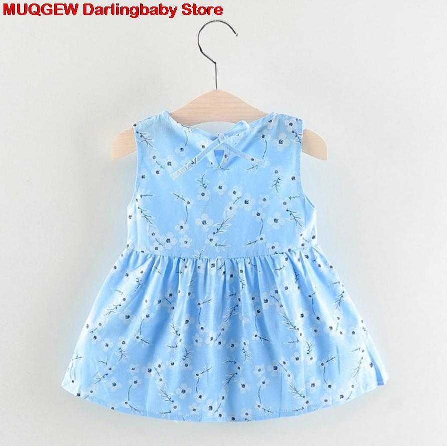 8ee1cc66f ... Recién nacido Ropa bebé vestido niña ropa flor imprimir princesa Casual  moda lindo hermoso traje Sundress ...
