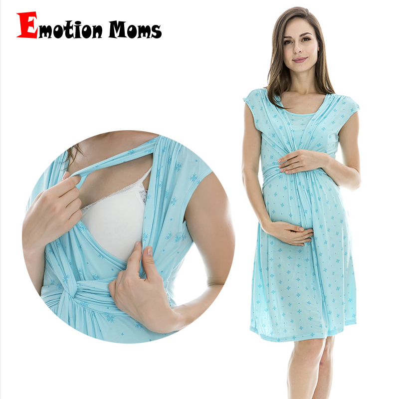 Emotion Moms maternity Clothes maternity Dress nursing Clothes nursing dress Breastfeeding Summer Dress for Pregnant Women in Dresses from Mother Kids