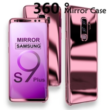 Bling Plating Mirror Case for Samsung Galaxy Note 9 8 S8Plus 360 Full Cover Coque for Galaxy S8 S9 Plus s9plus Cases Funda Note9