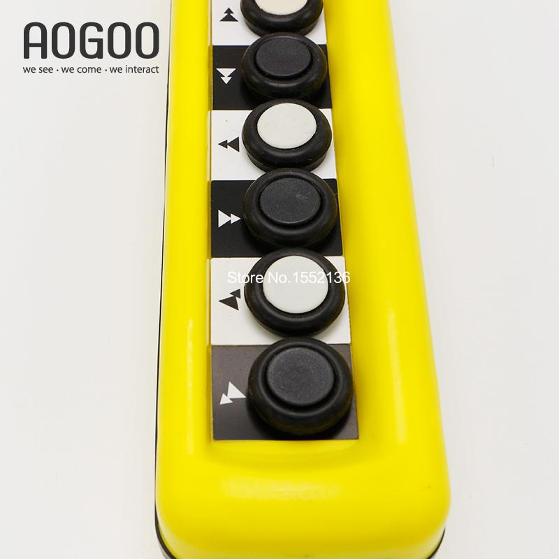 Xac a6913 5a 6 pushbuttons double speed hoist crane pendant control xac a6913 5a 6 pushbuttons double speed hoist crane pendant control stations with emergency stop for circuits double insulated in switches from lights aloadofball Choice Image