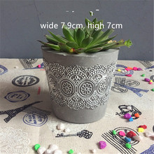 Creative Lace Pot Making Cement Mould DIY Concrete Planter Silicone Mold for flowerpot making