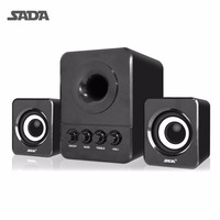 SADA Wired Mini USB Super Bass Subwoofer Speaker 2 1 3 Channel Computer Speakers With USB