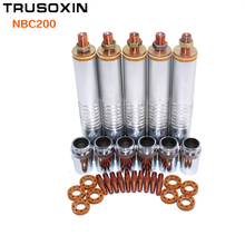 Welding machine parts NBC200 spool gun torch head tube barrel welding tips shield cups gas ring for MIG MAG NBC welding machine nbc 350d 500d gas shielded welding control panel two nbc welding main board old money