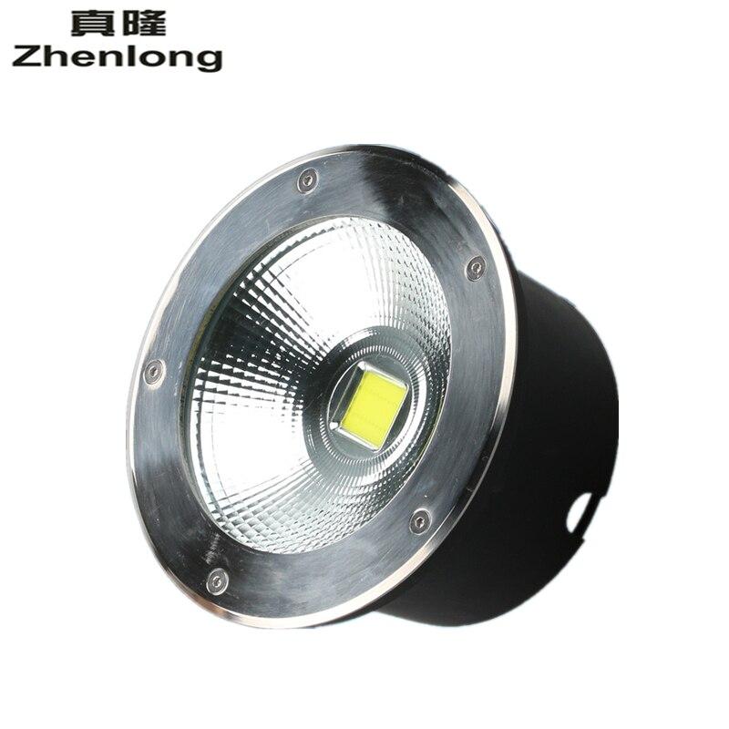 Işıklar ve Aydınlatma'ten LED Yeraltı Lambaları'de Su geçirmez LED ışık bahçe yeraltı IP67 açık gömülü bahçe yolu Spot gömme Inground aydınlatma 10W 20W 30W 50W COB