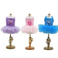 Pet Little Dogs Summer Clothes Dress Pink Pulle Skirt Dog Tutu Clothes Princess Dresses Costumes Suspender Skirt Supplies WW1399
