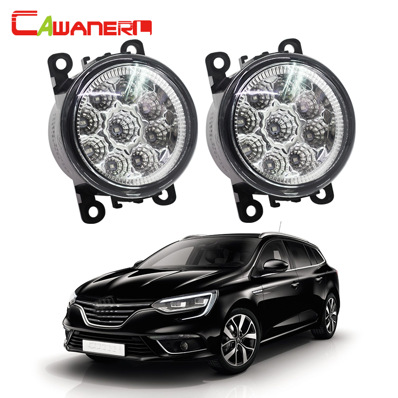 Cawanerl For Renault Megane III Coupe Grandtour Hatchback Car LED Lamp Fog Light Daytime Running Light DRL 12V DC 1 Pair cawanerl 1 pair car light led fog lamp drl daytime running light white 12v for subaru trezia hatchback 1 3 1 4d 2011 onwards