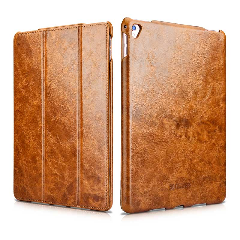 Oil Wax Pattern Cowhide Genuine Leather Case for Apple iPad Pro 9.7 New Case Retro Business Stand Smart Cover for iPad Pro 9.7