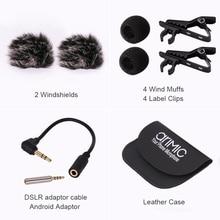 Ulanzi AriMic 6 m Dual-Head Lavalier Risvolto Clip-on Microfono per Lezioni o Intervista Smartphone Cellulare e Tablet