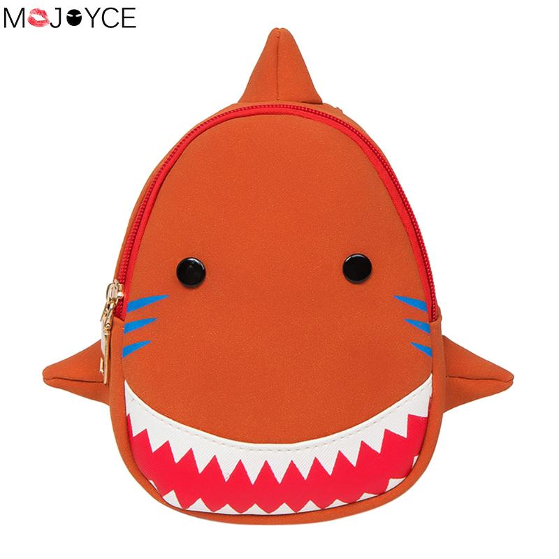 Lovely Kids Babys Backpack 3D Shark Bags Insulated Thermal Mochila Escolas Anti-Lost School Bags For Girls Boys Backpack Women