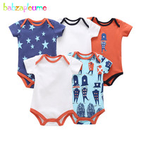 5Piece/Summer Newborn Clothing Baby Wears Girls Outfits Cotton Short Sleeve Jumpsuit Cartoon Cute Infant Bodysuit Sets BC1259 1