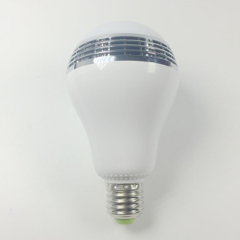 Smart Wireless bluetooth Speaker Lamp Dimmable E27 LED RGB Light Music Bulb Lamp via WiFi App Control Free Shipping