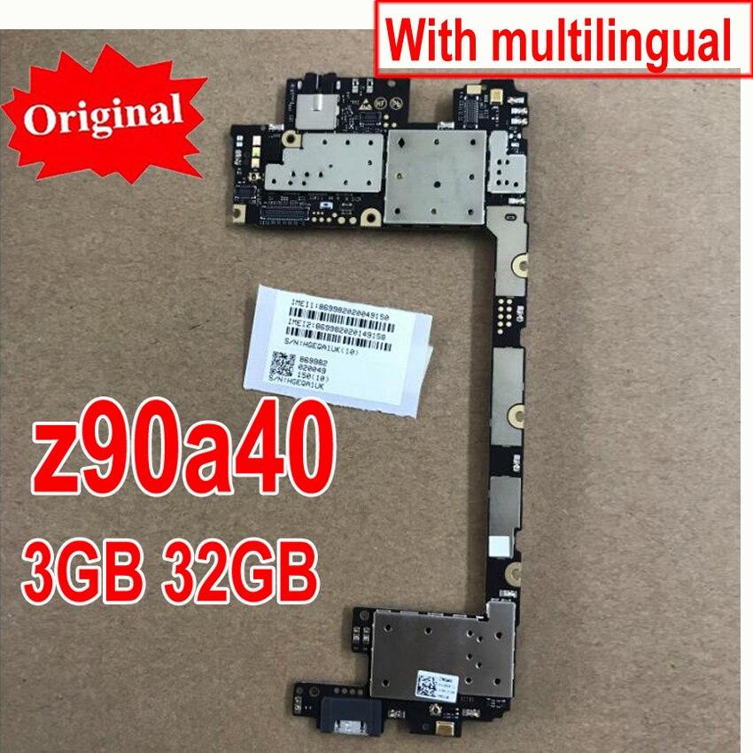 Original Novo Multi-Idioma Principal Board Para Lenovo Vibração tiro Z90 Z90A40 3 gb 32 gb cartão motherboard mainboard taxa de chipsets
