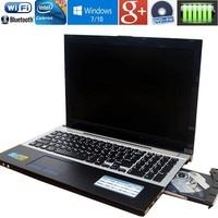 15.6inch 1920X1080P 4GB RAM+320GB HDD N3520 Quad Core Laptop Computer with Russian Keyboard WIFI HDMI DVD RW Windows10 Notebook