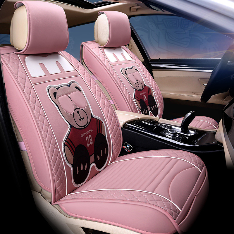 Worldwide delivery car seat cover set pink in NaBaRa Online