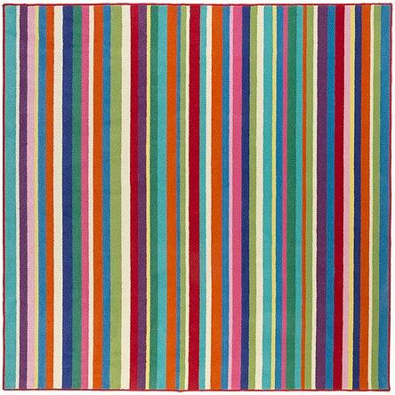 Multi Colored Striped Carpet Carpet Vidalondon