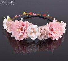 Cxadditions Роза гвоздики Пион цветок Halo свадебные цветочные корона волос венок мяты голову венок свадебный головной убор невесты(China (Mainland))