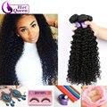 8a brasileiro kinky curly virgem cabelo humano barato cabelo tissage bresilienne queen hair products curly brasileiro virgem cabelo 3 pcs