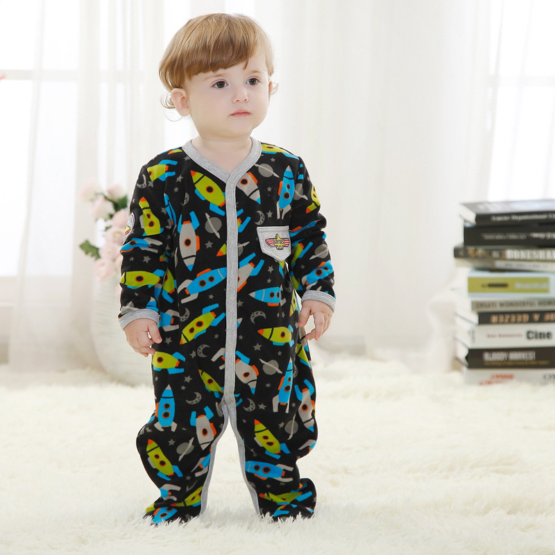 2016 Spring Autumn Newborn Baby Boy Clothes Polar Fleece Baby Rompers Infantil Menino Jumpsuit Boys Body Baby Clothes New Born