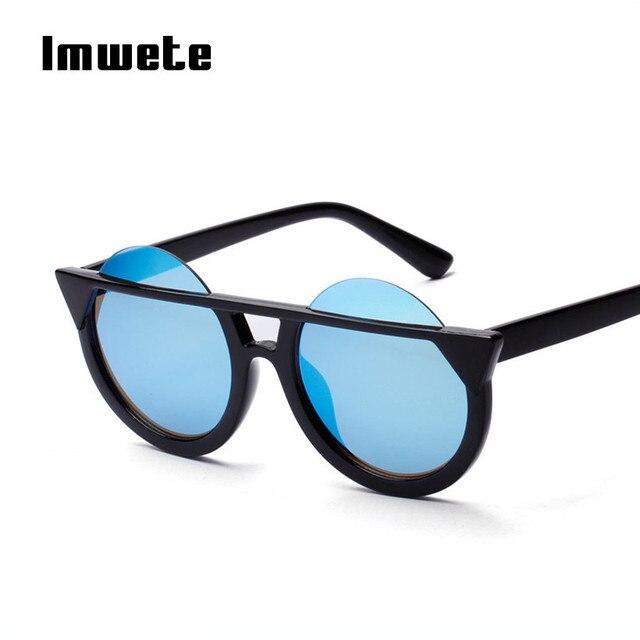 Imwete Vintage Cat Eye Subglasses Half Frame Glasses Women Brand ...