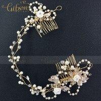 Factory Sell Gold Color Plated Wedding Hair Accessories Bridal Hair Vine Flower Hair Bridal Headpiece
