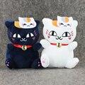 "2 pçs/lote Anime Natsume Yuujinchou Nyanko Sensei Cat Plush Macio Stuffed Dolls Crianças Bebê Brinquedos 7 ""18 cm"