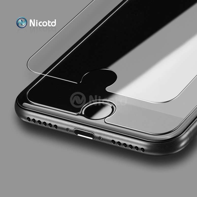 10Pcs/Lot 0.3mm 9H 2.5D Tempered Glass for iPhone 5 5s 5c 6 6s 4s 4 Explosion Proof screen protector Film for iphone 7 plus