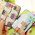 Owl Credit Card Case Purse Business Card ID Card Holder Plastic Card Case