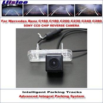 Liislee Rear Reverse Camera For Mercedes Benz C160 C180 C200 C230 C240 C280 860 Pixels 580 TV Lines Intelligent Parking Tracks