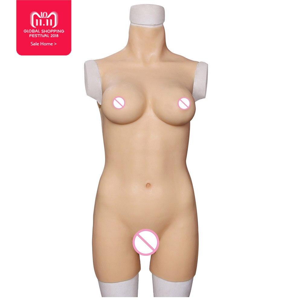 YR-B3-S/L Silicone Artificielle Formes Mammaires pour crossdresser Transvesti trans body drag queen lady garçon seins LGBT faux chatte