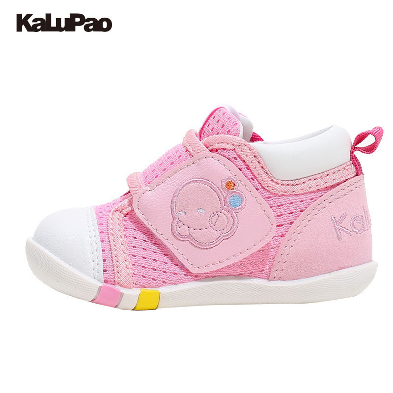 KALUPAO 2017 Summer Toddler Girl Solid Christening Party Baby Shoes Infant Birthday Pink Baby Breathable Sneaker First Walker