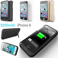 Fochutech 3200mAh Power bank case pack backup battery Charger Case Cover for iPhone 6 with USB cable line