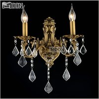 Hot Sale Crystal Wall Sconces Modern Wall light fixture living room lights Brass Color wall lamp for Bathroom, Dressing room