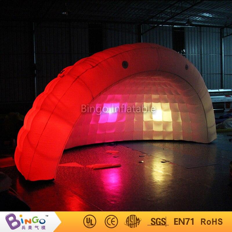 Half Moon купол Море надувной оболочки палатки со светодиодной подсветкой/воздушный купол Тент со светодиодной подсветкой/временные всплывающ