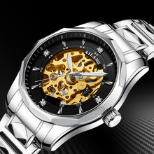 AILANG watch top luxury brand men's automatic mechanical watches man fashion gold skeleton stainless steel clock waterproof 2019 ailang skeleton watch full stainless steel mechanical watch men designer mens watches top brand luxury clock gold male relogio