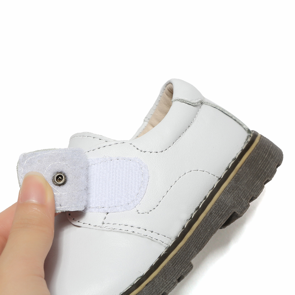 Kids Shoes Children Genuine Leather Shoes 2019 Spring Autumn Baby Boys Dress School Shoes For Girls Casual Sneaker Black Sneaker in Leather Shoes from Mother Kids