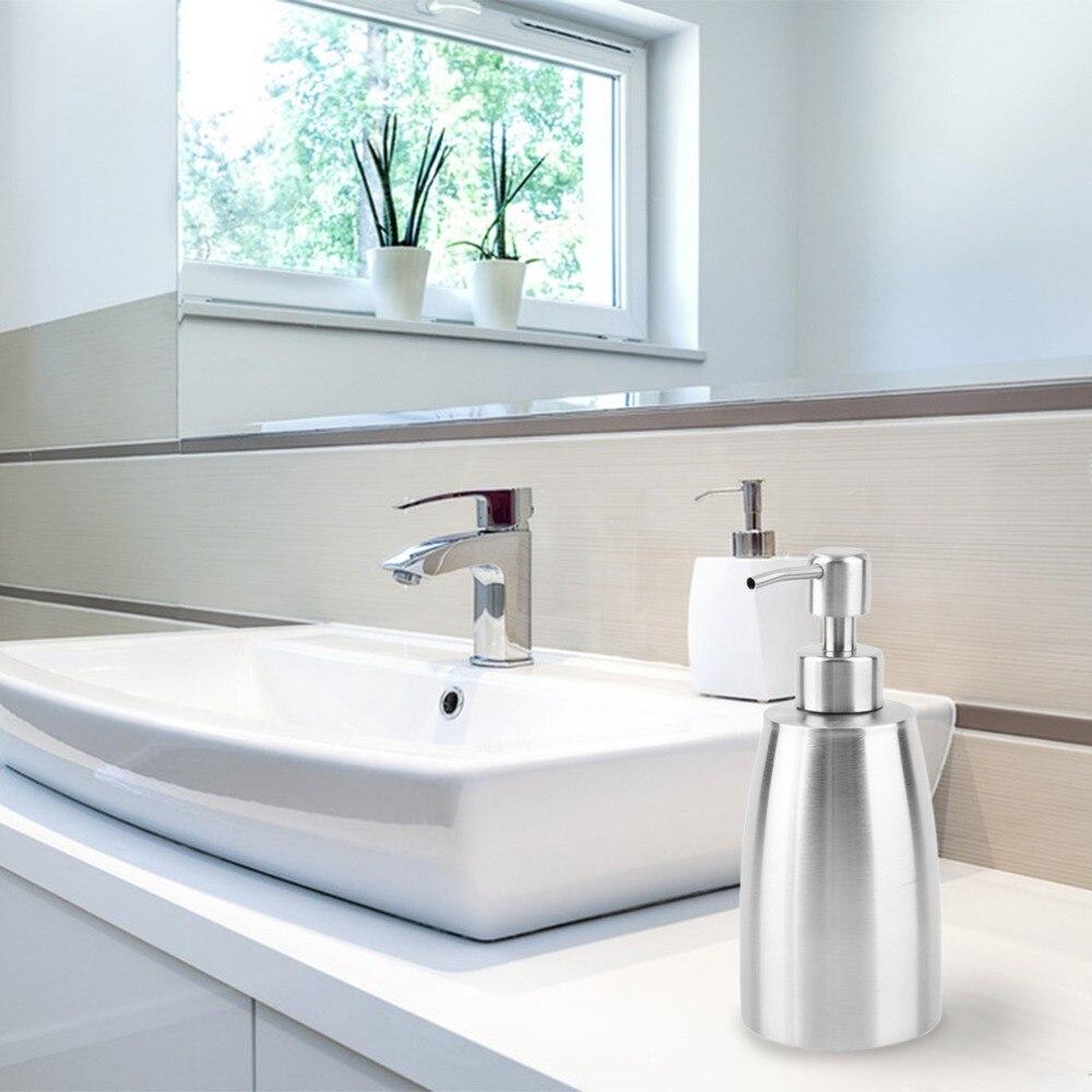 Edelstahl Flüssigkeitspumpe Seife Automatische Sanitizer Lotion Spender Hand waschen Sanitizer Flasche für Küche Bad