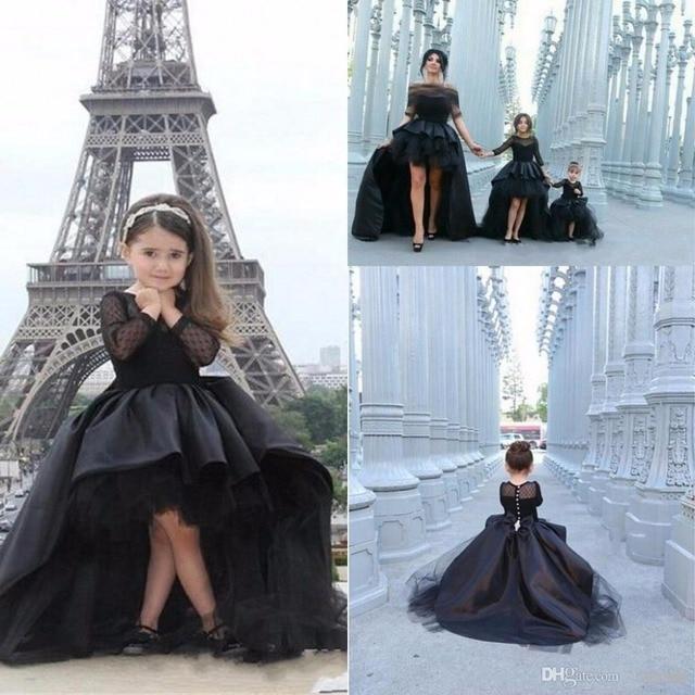 Vestidos de fiesta negros con mangas