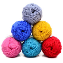5Pcs/ Lot Soft thick Milk Cotton Hand Knitting Yarn Baby chunky yarn for hand knitting natural milk cotton crocheted