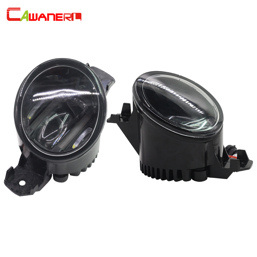 Cawanerl 2 X Car LED Fog Light Daytime Running Lamp DRL White For Renault Clio Koleos Laguna Wind Grand Modus Espace