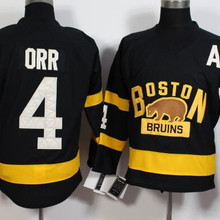 Retro College Boston Bruins 4 Bobby Orr MEN S Hockey Jersey Embroidery  Stitched b6c1c5cb6