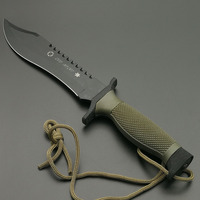 DuoClang Military Combat Straight Knife 440HC Steel Blade ABS Handle Rescue Utility Outdoor Knives Top Quality